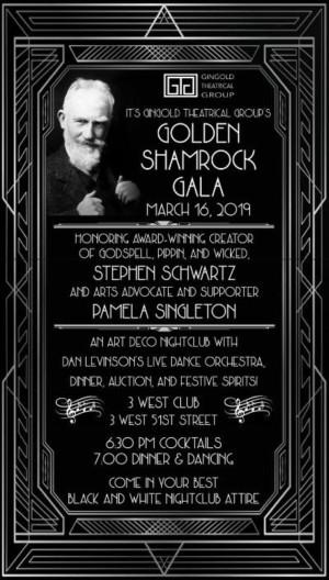 GTG To Honor Stephen Schwartz  & Mary Pamela Singleton At Golden Shamrock Gala