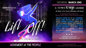 Dance Parade's LIFT OFF Announced At The Taj Lounge