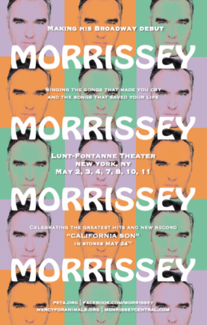 Morrissey Announces Broadway Residency