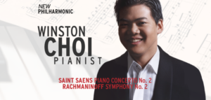 Acclaimed Pianist Winston Choi Joins New Philharmonic For Saint-Saëns' Piano Concerto No. 2
