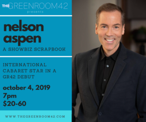 Nelson Aspen to Debut at The Green Room 42