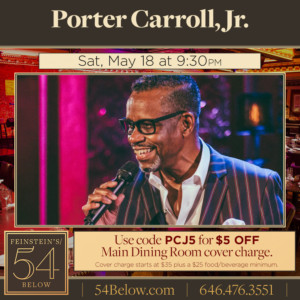 Porter Carroll Jr. Of Hall & Oates Comes to Feinstein's/54 Below