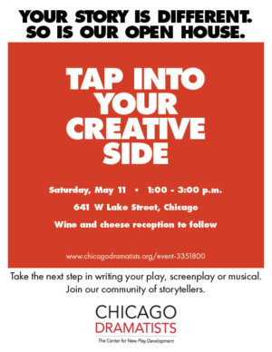 Chicago Dramatists Announce Open House May 11