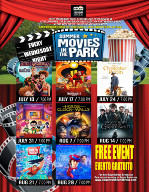 Bound Brook's Announces 2019 Movies-in-the-Park Lineup