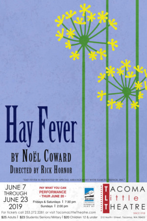 Tacoma Little Theatre Presents HAY FEVER