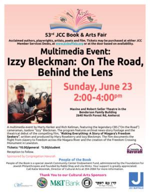 JCC Book and Arts Fair Announces Izzy Bleckman