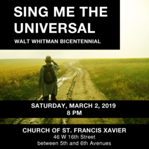 Cecilia Chorus Of NY Presents SING ME THE UNIVERSAL - A Walt Whitman Bicentennial Concert