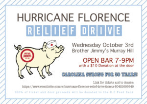 Brother Jimmy's Hosts Hurricane Florence Relief Drive