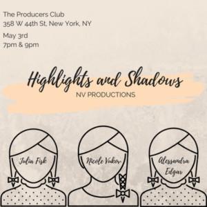 Producers' Club Presents An Original One-Act Play HIGHLIGHTS & SHADOWS