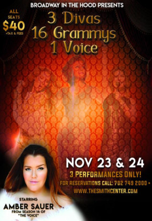 Amber Sauer To Headline At The Smith Center Thanksgiving Weekend In 3 DIVAAS, 16 GRAMMYS, 1 VOICE