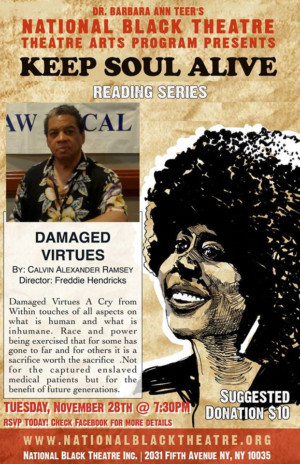 The National Black Theatre Announces Staged Reading of DAMAGED VIRTUES