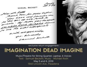 IMAGINATION DEAD IMAGINE Announces Los Angeles Return