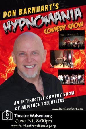 Don Barnhart's HYPNOMANIA Show Comes To Fox Theatre In Walsenburg