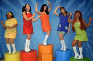 Get Groovy with the Girl Power SHOUT! The Mod Musical SInging and Dancing into the Kelsey Theater