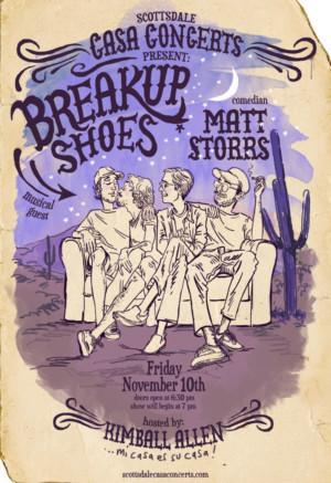 Scottsdale Casa Concerts Present Breakup Shoes and Matt Storrs Next Month