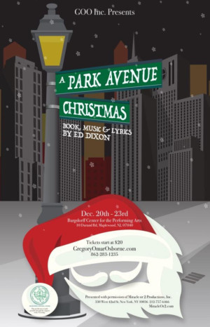 A PARK AVENUE CHRISTMAS By Ed Dixon to Make World Premiere