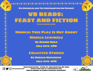VB Reads: Feast And Fiction - A Play Reading Series