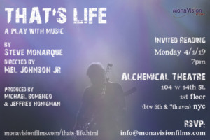 Industry Reading Of THAT'S LIFE By Steve Monarque To Be Directed By Mel Johnson Jr.