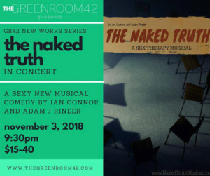 Actors From SPONGEBOB, GROUNDHOG DAY, America's Got Talent, and More Set For New Musical THE NAKED TRUTH at The Green Room 42
