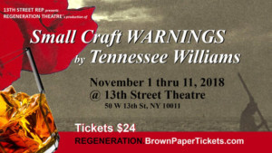 Tennessee Williams' SMALL CRAFT WARNING to Be Revived