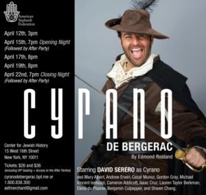 French Actor David Serero To Star As Cyrano De Bergerac In New York