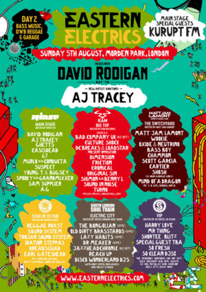 Eastern Electrics Festival AnnounceKuruptFM And AJ Tracey at Day Two of EE