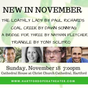 Hartford Opera Theater Presents: New In November 9