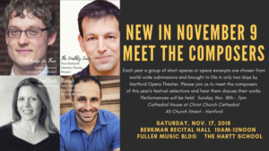 Hartford Opera Theater And The Hartt School Community Division Hold Meet The Composers Event