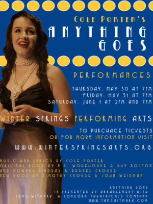 Winter Springs Performing Arts Gets Toes Tapping With Cole Porter's ANYTHING GOES
