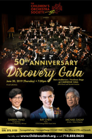Ray Chen Joins The Children's Orchestra Society For 50th Anniversary Gala