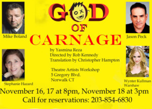 Theatre Artists Workshop Presents GOD OF CARNAGE