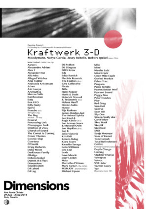 Dimensions Festival Announce First Wave Artists Including KRAFTWERK, Helena Hauff, Moodymann, and More
