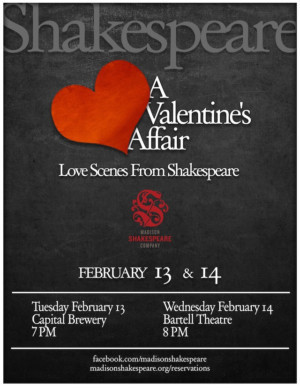 Spend Valentine's Day With Shakespeare's Greatest Lovers and One Horrible Monster at Bartell Theatre