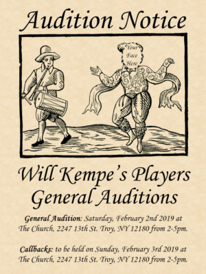 Will Kempe's Players Announces Season And Auditions