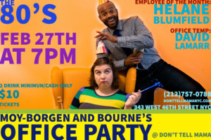 Moy-Borgen & Bourne's Office Party Returns To Don't Tell Mama