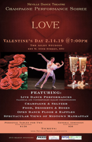 Ailey Studios Presents Valentine's Day Champagne Soiree & Dance Performance