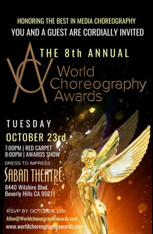 8th Annual World Choreography Awards to Be HeldToday