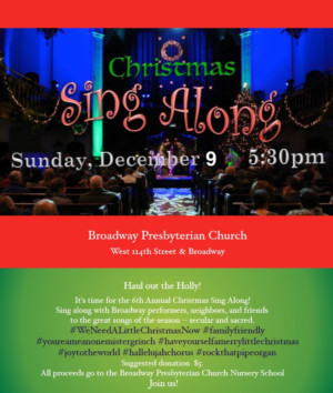 Lineup Set For 7th Annual Holiday Sing Along