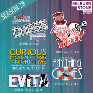 Milburn Stone Theatre Announces 2019 Season Performances; CHESS, A GENTLEMAN'S GUIDE, and More