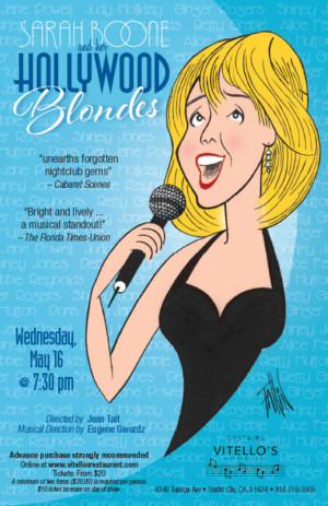 Sarah Boone And Her Hollywood Blondes to Play Vitello's