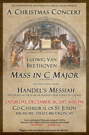Foundation for the Revival of Classical Culture to Present A CHRISTMAS CONCERT in Brooklyn