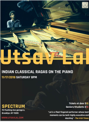 Indian Pianist Utsav Lal Comes to Brooklyn This November