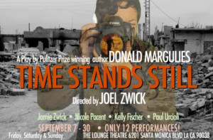 Joel Zwick Directs TIME STANDS STILL At Lounge Theatre, Opens Sept. 7