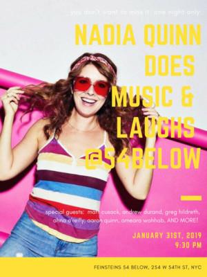 Nadia Quinn Brings Music and Laughs to 54 Below