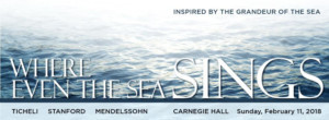 New York Choral Society to Perform WHERE EVEN THE SEA SINGS at Stern Auditorium at Carnegie Hall