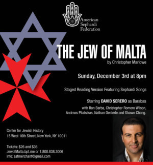 David Serero to Star in THE JEW OF MALTA For One Night Only Next Month