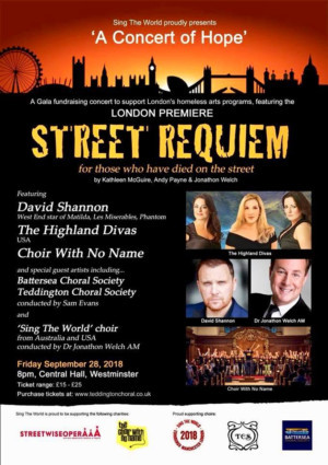 STREET REQUIEM - For Those Who Have Died On The Street to Have its London Premiere