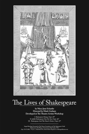 LIVES OF SHAKESPEARE Trilogy Set For Readings At The Players