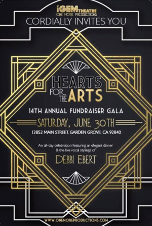 One More Productions Presents 14th Annual Hearts For The Arts Fundraiser Gala And Celebration