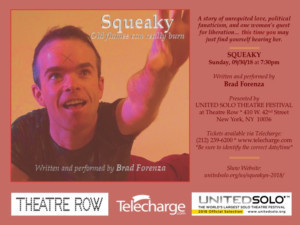 Squeaky Fromme Show Premieres At United Solo On 9/30